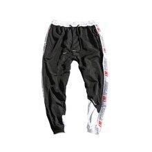 Модные уличные мужские повседневные спортивные брюки вертикальные полоски, строчки, Свободные Комбинезоны, хлопковые ноги, корейский стиль, мужские спортивные штаны