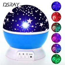 Gökyüzü projektör yıldız ay Galaxy gece lambası çocuklar için çocuk yatak odası dekor projektör dönen kreş gece lambası LED bebek lambası