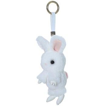 Rex rabbit fur big ear rabbit doll pendant cute rabbit packbag pendant cute car ornament key chain