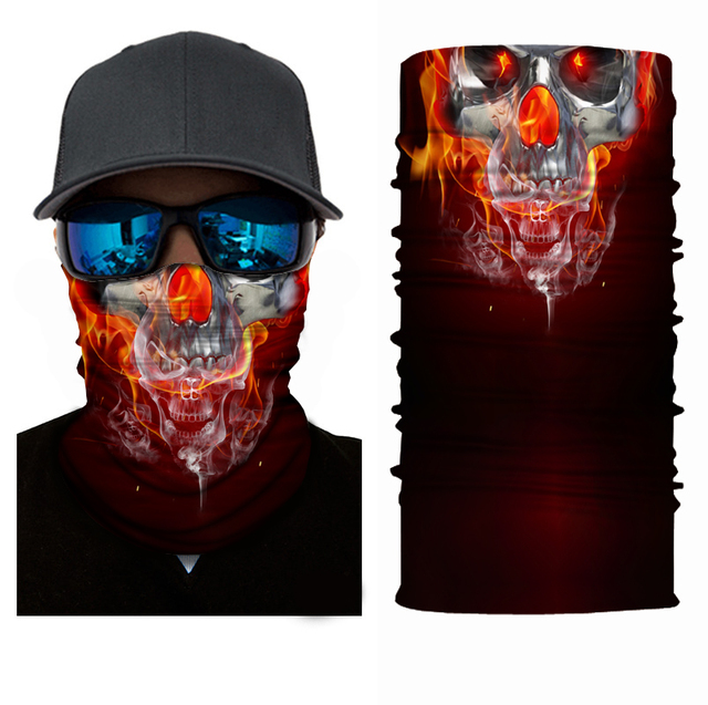 Fashion Motorcycle Face Mask Moto Balaclava Skull Mask Motor Scarf Halloween Panuelos Para Moto Face Shield Neck Warmer Headwear 5