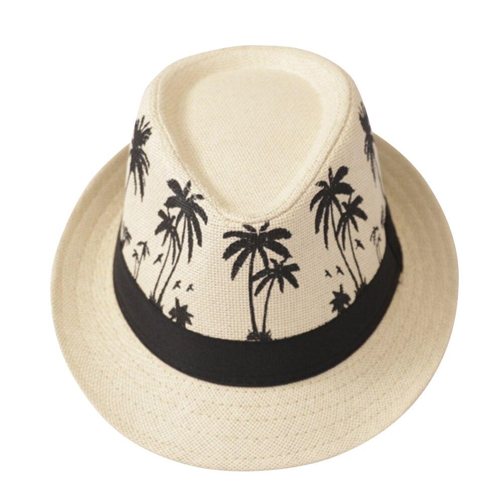 Summer Sun Protection Sombrero Beach Casual Travel Fashion Men Sun Hat Wide Brim Trilby Straw Panama Fedora Caps