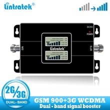 Lintratek dual band 2G 3G GSM 900 ripetitore del segnale WCDMA 2100 ripetitore di Telefonia Mobile cellulare delle cellule del telefono di comunicazione vocale amplificatore