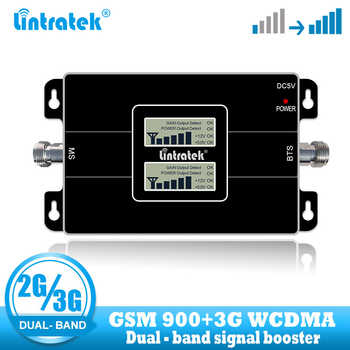 lintratek dual band 2G 3G GSM 900 signal booster WCDMA 2100 Mobile repeater cellular cell phone voice communication amplifier - DISCOUNT ITEM  42% OFF All Category