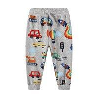 Jumping meter/Коллекция 2019 года, спортивные штаны для мальчиков осенне-весенняя одежда для маленьких мальчиков и девочек с принтом «Ракета» длинн...