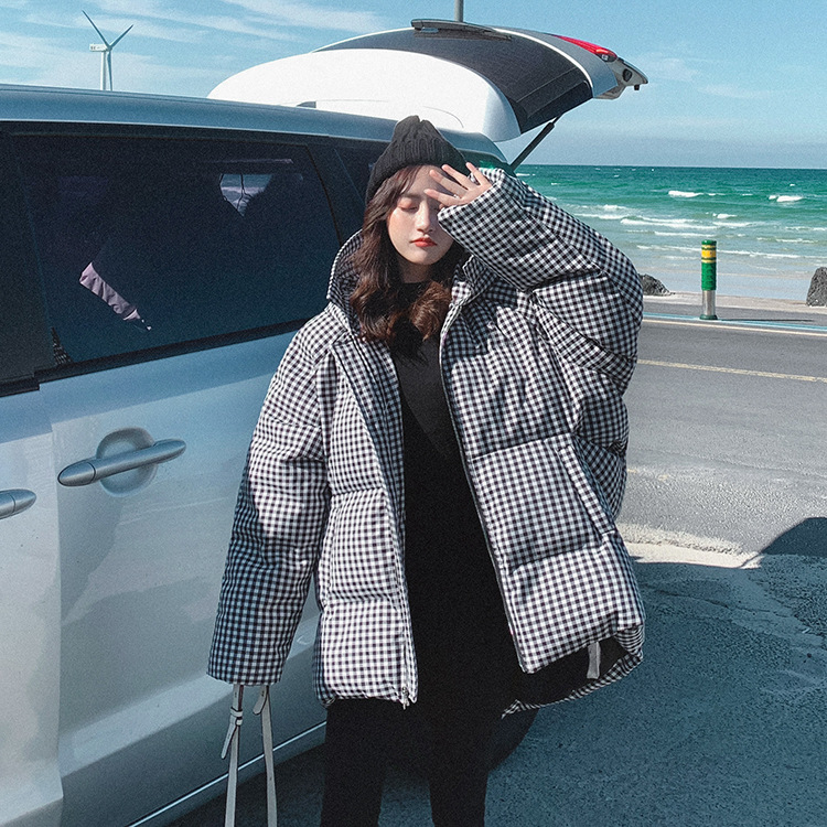 Photo Shoot Dongdaemun Cotton Coat Women's Winter Short 2019 New Style Korean-style Loose-Fit Hooded Down Coat Cotton-padded Clo