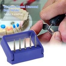 10 Holes Dental Diamond Burs Holder Block for High Speed Dental Burs Oral Teeth Polishing Drill Holder Lab Equipment