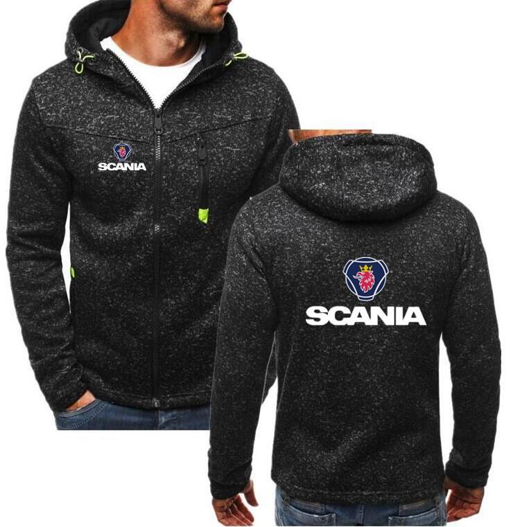 Мужские осенне-зимние толстовки для мотокросса с принтом для Saab SCANIA, свитшот для езды на мотоцикле, велосипедные хлопковые флисовые куртки, ...