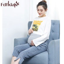 M-5XL Plus Size Maternity Clothes Summer New High Waist Denim Casual Pregnancy Clothes Maternity Jeans For Pregnant Fdfklak(China)