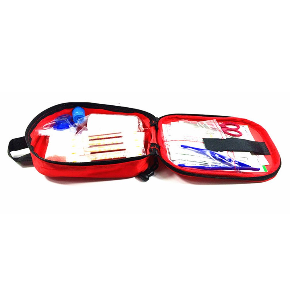 17PCS/SET Compact Size Emergency Survival Bag Outdoor Camping Travel Car First Aid Bag First Aid Medical Bag Survival Kit