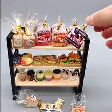1 Pc DIY miniżelazko art regał z półkami do przechowywania półka ekspozycyjna meble do domku dla lalek akcesoria