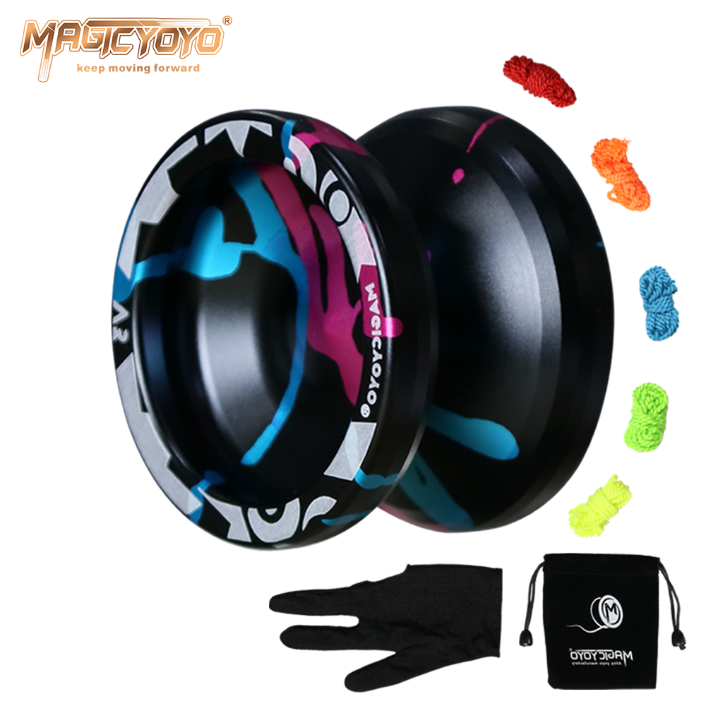 Clearance SaleMAGICYOYO Professional Bearing Yo Yo Metal Responsive Replacement V3 for Beginner Advanced-Player