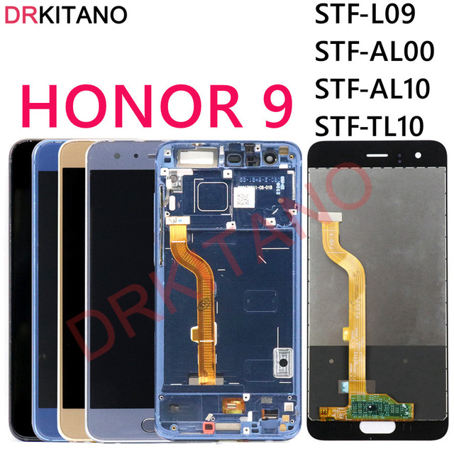 DRKITANO Display For Huawei Honor 9 LCD Display Touch Screen Digitizer Assembly Screen Honor 9 Display With Frame STF L09 STF 29