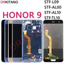 Tela drkitano para huawei honor 9, display lcd, touch screen, digitalizador, montagem de honor 9, com moldura STF L09 STF 29