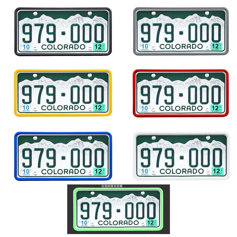 License Plate Frame For America Scratch-Resistant Rust-Proof Car License Cover Silicone Holder Number Plate Kentekenplaathouder