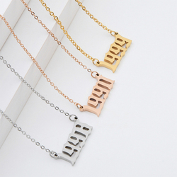 Year Number Necklaces for Women Custom Year 1994 1998 2000 Birthday Gift from 1985 to 2019 Choker Necklace Women