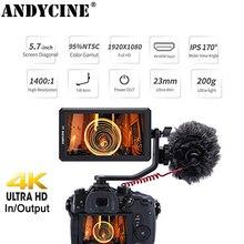 цена ANDYCINE A6 5.7 Inch HDMI Field Monitor 1920x1080 DC 8V Power Output Swivel Arm Monitoring for GH5 Sony Nikon Canon DSLR Gimbals онлайн в 2017 году