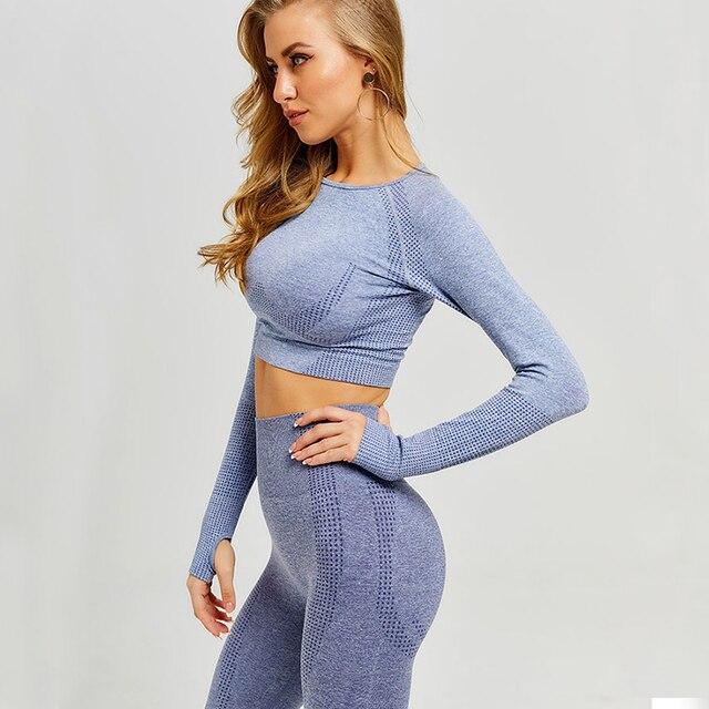Women seamless yoga set fitness sp