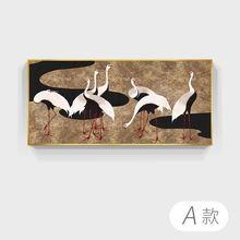 Абстрактная картина маслом печать на холсте животное Белый журавль