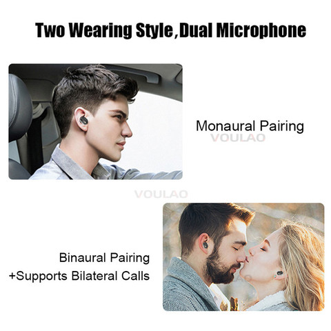 Wireless Headphones Bluetooth V5.0 TWS Earphones Touch Control 9D Stereo Bass Earbuds For IOS Android Fone de ouvido bluetooth Islamabad
