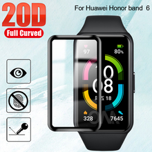 20D Curved Edge Protective Film Cover For Honor band 6 & Huawei Watch Fit Smart Wristband Screen Protector (Not Glass