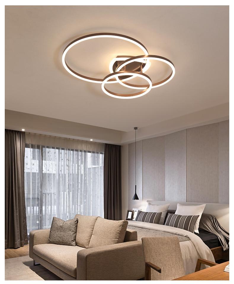 Nordic led luz de teto sala estar cabeceira alumínio