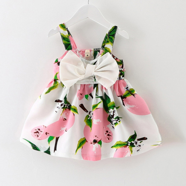 Baby Dresses Pattern Lemon Print