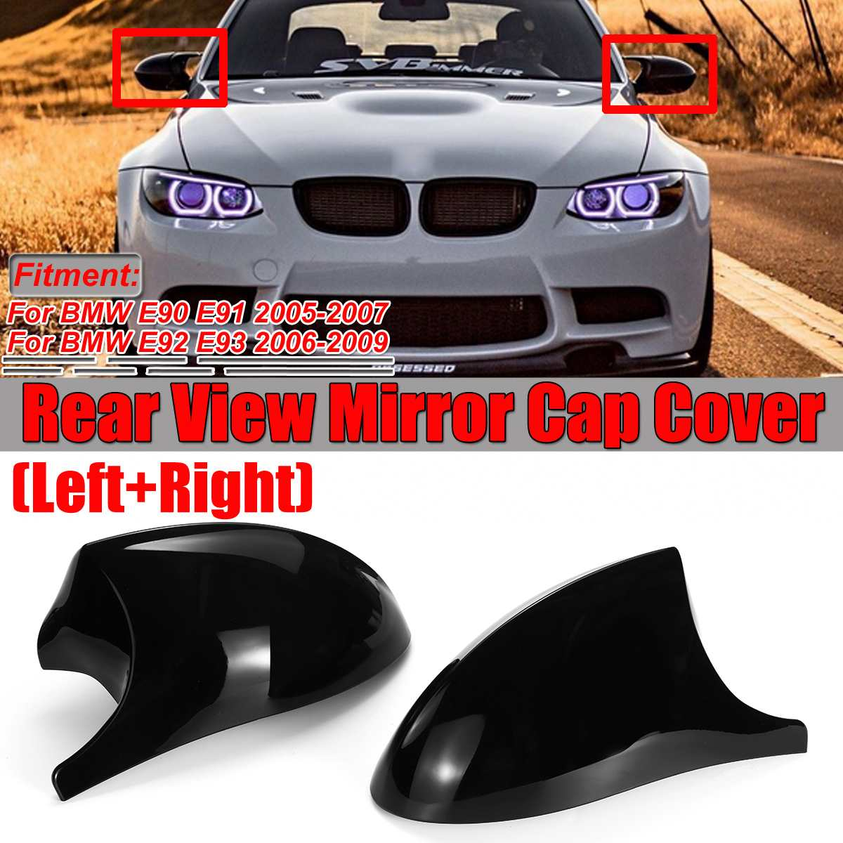 Passenger Side Left Wing Mirror Cover Cap For BMW E90 E91 3-Series 2006-2008