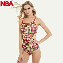 NSA maillot de bain pour femmes, ensemble une pièce triangle, résistant au chlore, pour compétition, vêtements de plage, nouvelle collection 2020