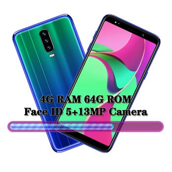 Smartfony K30 Android czterordzeniowe globalne telefony komórkowe 4GB RAM 64GB ROM 13MP celulares WiFi Face ID telefony komórkowe odblokowane telefony tanie i dobre opinie BYLYND Odpinany Nowy Rozpoznawania twarzy Do 48 godzin 3000 Adaptacyjne szybkie ładowanie Bluetooth 5 0 Pojemnościowy ekran