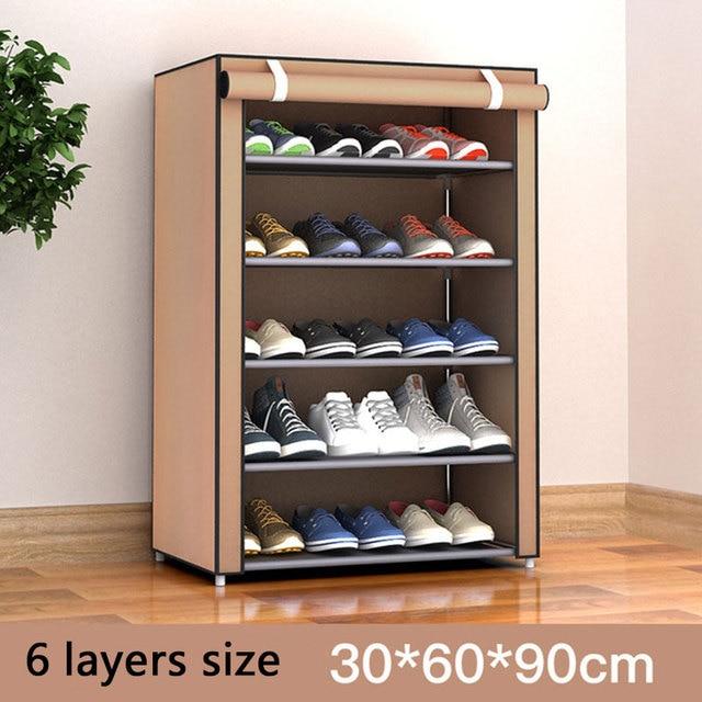 Multi-layer Dustproof Cloth Shoe Cabinet DIY Combination Assembly Shoe Storage Rack Household Finishing Shelves Home Furniture 3