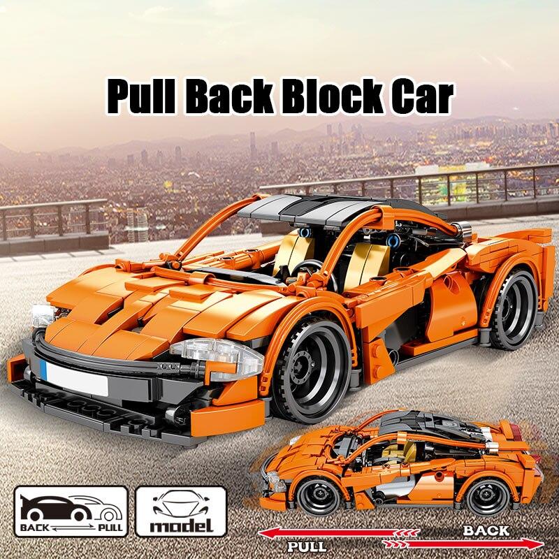 SEMBO Block City Pull Back Vehicle Building Blocks