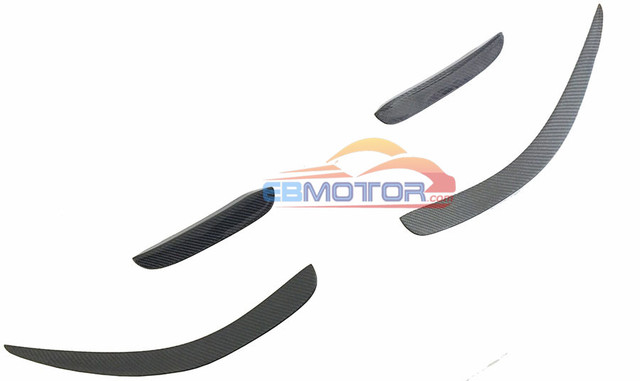 Front Bumper Lip Splitter Fins Spoiler 4PCS SET For Mercedes Benz W204 C63 AMG 11-14 M122 1