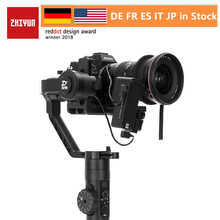 Zhiyun 공식 크레인 2 3 축 짐벌 안정기 dslr 미러리스 카메라의 모든 모델에 대한 캐논 5d2/3/4 서보 따라 초점