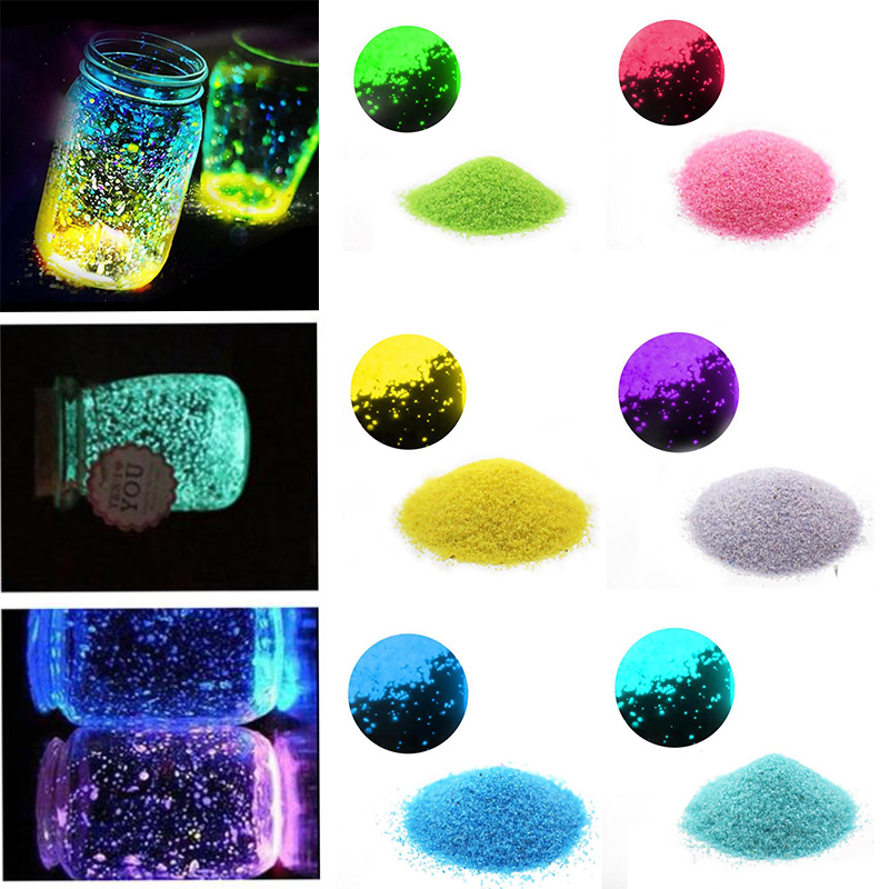 10g Luminous Sand Stones Garden Park Road Pebbles Glow In Dark Stone Ornaments For Aquariums Fish Tank Party Decoration
