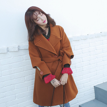 2019 Fashion New Thin Wool Blend Coat Women Long Sleeve Turn-down Collar Outwear Jacket Casual Autumn Winter Elegant Overcoat