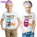 2020 номер 1-12 с мультипликационным принтом «Король Лев», рубашки для детей с днем рождения мальчиков Симба смешные девочки футболка в стиле Х...