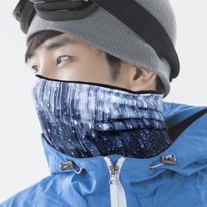 Image 2 - Winter Fleece Druck Gesicht Maske Abdeckung Balaclava Wärmer Polar Motorrad Schal Motorrad Snowboard Radfahren Ski Winddicht Frauen Männer