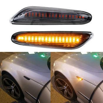 Error Free Smoke LED Side Marker Light Flowing Water Indicator Turn Signal Lights For BMW E90 E91 E92 E93 E60 E87 E82 E61 image