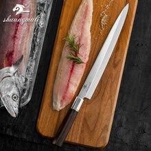 Professionele 12 Inch Japanse Sashimi Mes Yanagiba Vissen Mes Keuken Chef Sushi Messen 5CR15 Staal Zalm Japan