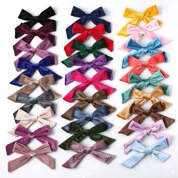 цена на 2020 New Children Bows Hair Clips Fashion Girls Duckbill Hairpins Top Clip Kids Colorful Hairgrip Barrettes Hair Accessories