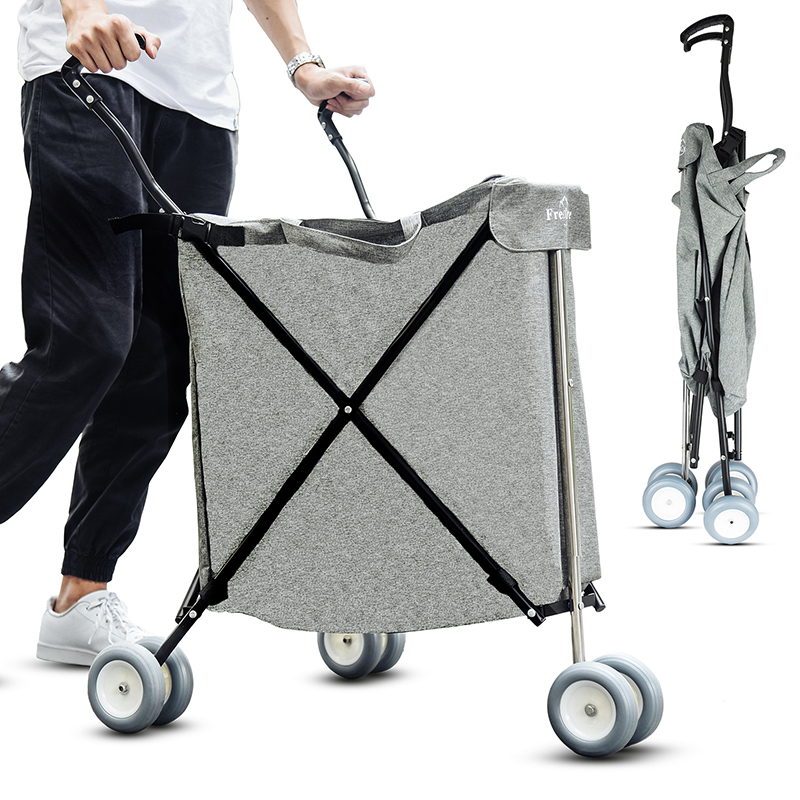 84L Large Outdoor Folded Shopping Cart with Oxford Cloth Bag Quality Foldable Multifunctional Pet Stroller Bearing 50kg