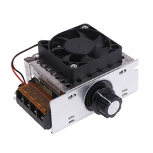 AC 220V 4000W SCR Variable Voltage Regulator Motor Speed Control Controller Fan ac 220v 4000w high power scr speed controller electronic voltage regulator governor l15