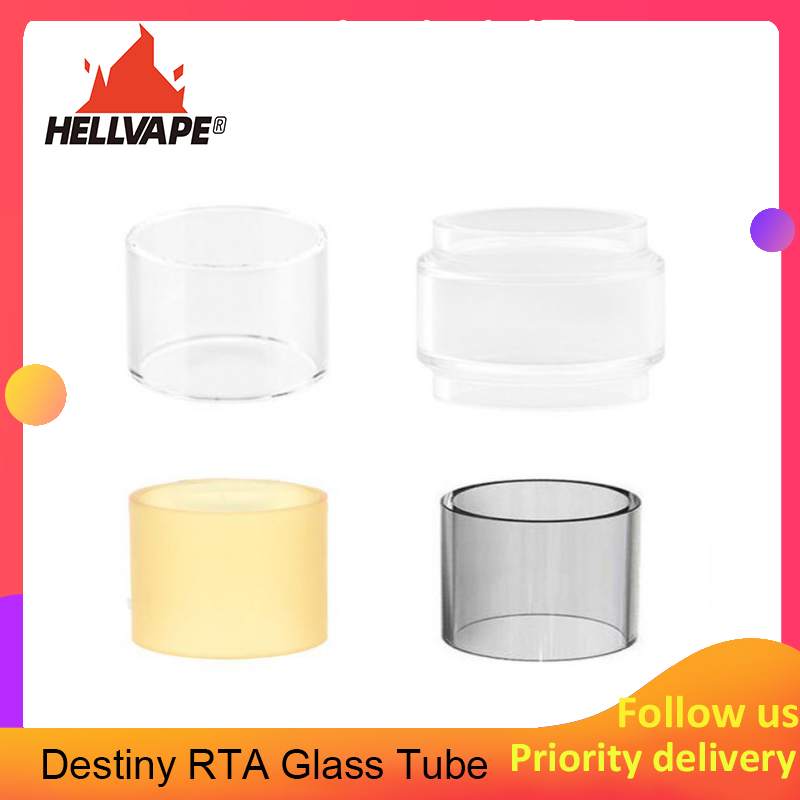 High Quality E-cigarette 2ml/4ml Replacement Straight/bubble/PCTG/PEI Glass Glass Tube For Original Hellvape Destiny Atomizer