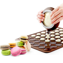 48 Holes Silicone Mat For Oven Macaron Baking Non-Stick Cake Pad Bakeware Pastry Tools
