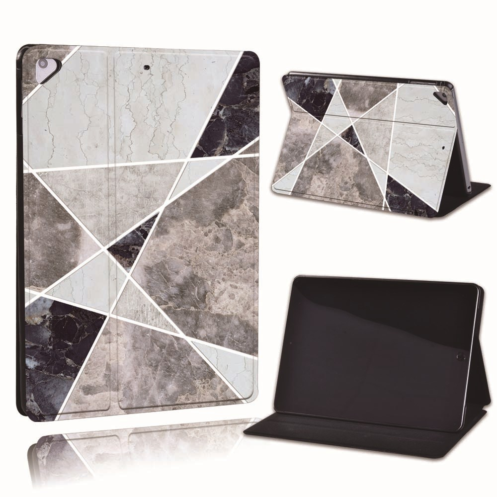 22.cold color Gold For Apple iPad 8 10 2 2020 8th 8 Generation A2428 A2429 Slim Printed Geometry PU