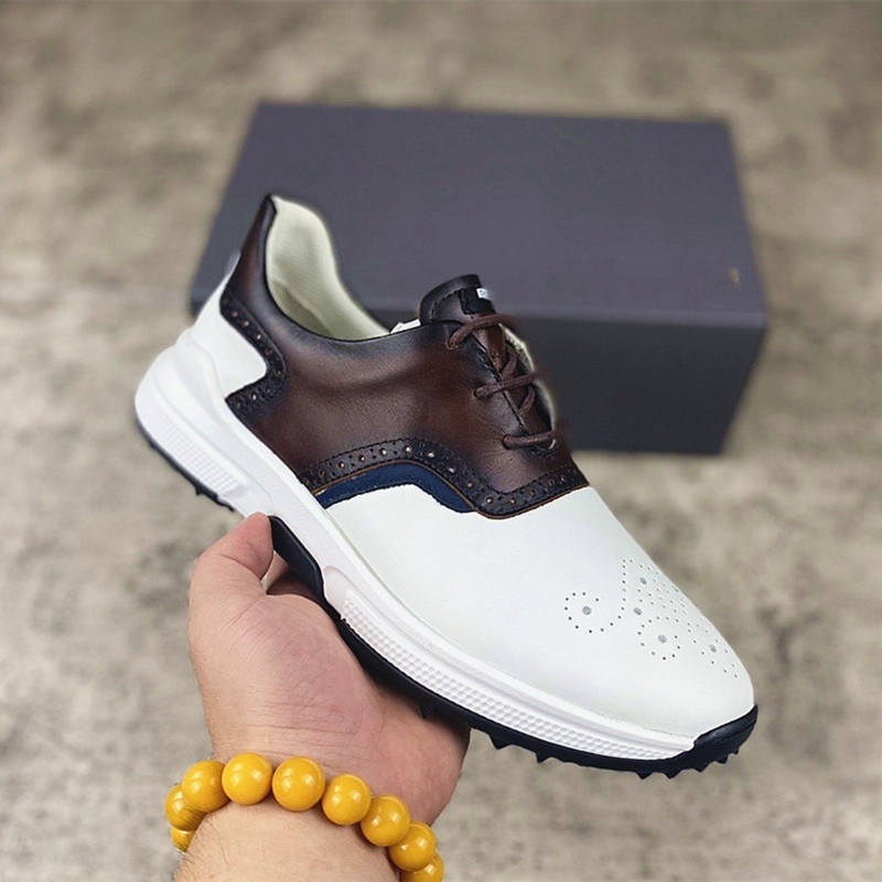 Professional Men's Golf Sports Shoes Waterproof Non-slip Golf Shoes Spring and Summer Golf Training Shoes Men's Sports Shoes