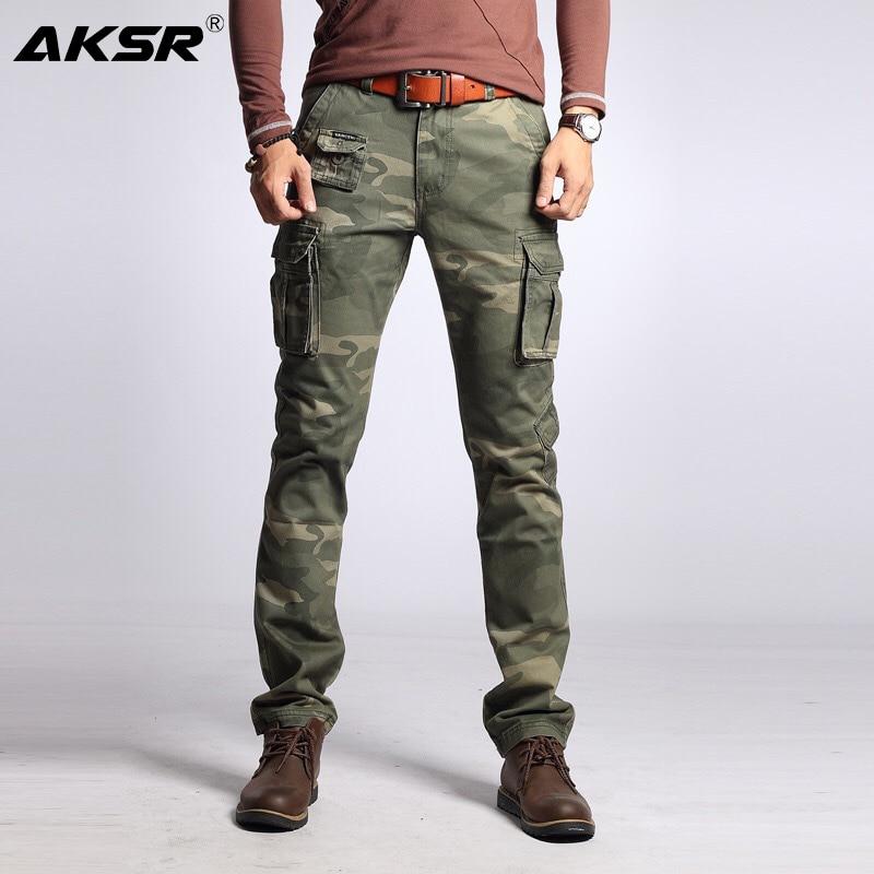 Men's Joggers Cotton Cargo Pants Large Size Flexible Tactical Military Camo Pants Khaki Pants Man Trousers Streetwear Joggers