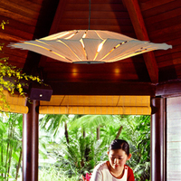 Bamboo Living Room Lights Restaurant Lamp Chinese Style Wooden Lamps Veneer Dining Room Lights S luminaria