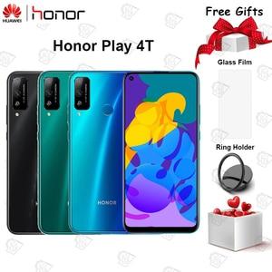 Оригинальный Honor Play 4T Мобильный телефон 6,39 дюймов 6 ГБ ОЗУ 128 Гб ПЗУ Kirin 710A Восьмиядерный Android 10 двойная камера 4000 мАч смартфон