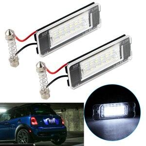 2PCS Car LED License Number Plate Light 12V 6500K White Light Bulbs For Mini Cooper S R56 R57 R58 R59